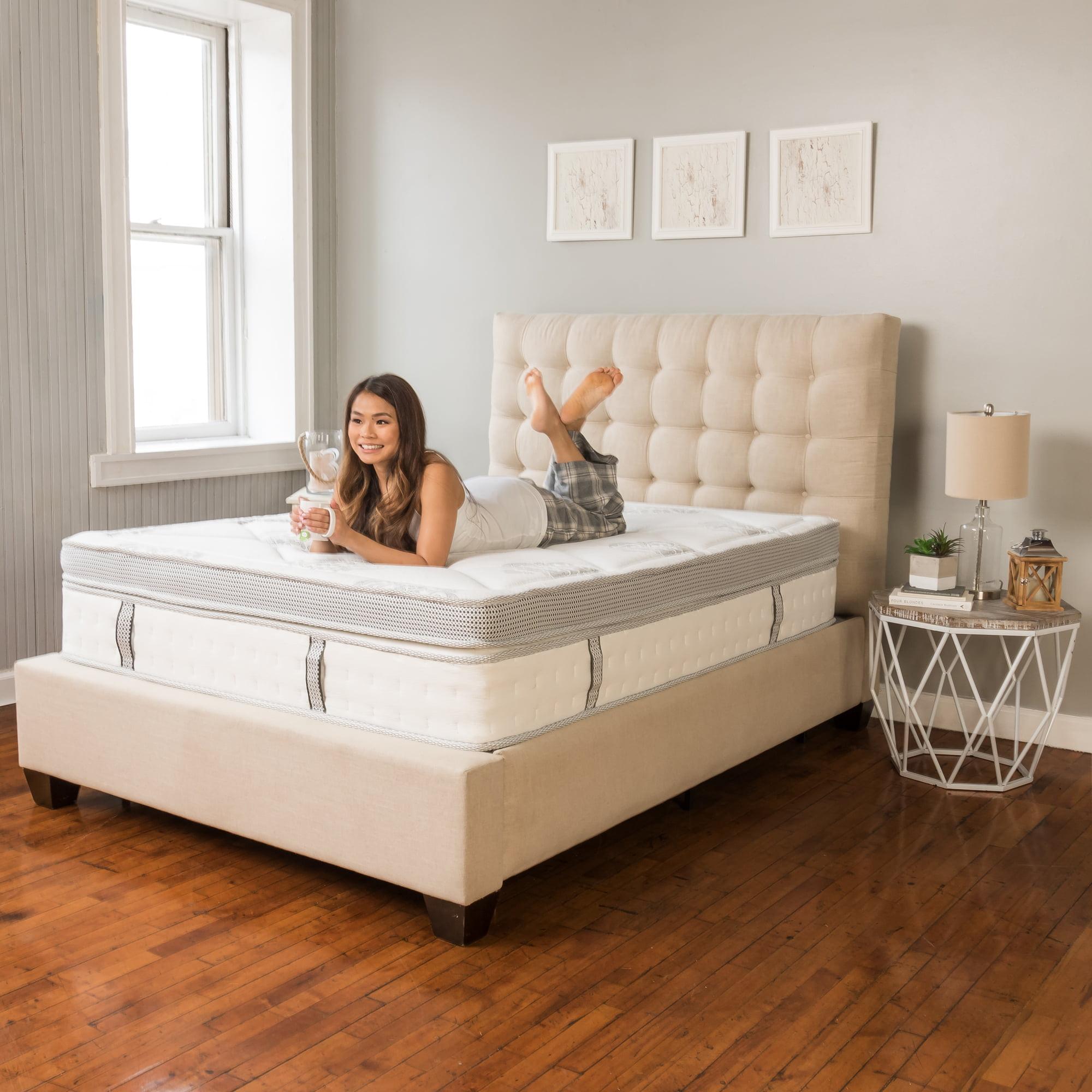 "Modern Sleep Pillow Top 14"" Hybrid Cool Gel Memory Foam and Innerspring Mattress by Classic Brands"