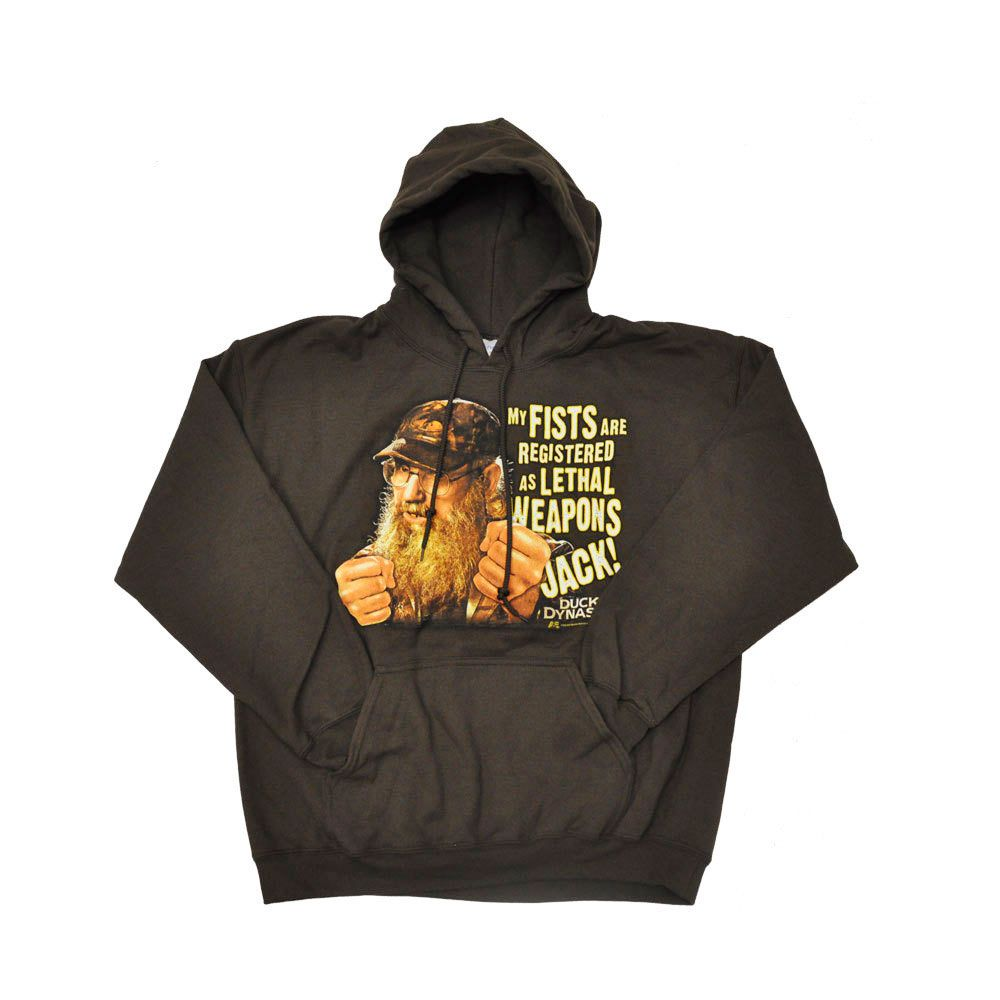 Duck Dynasty Men's Si Lethal Weapon Brown Hoodie
