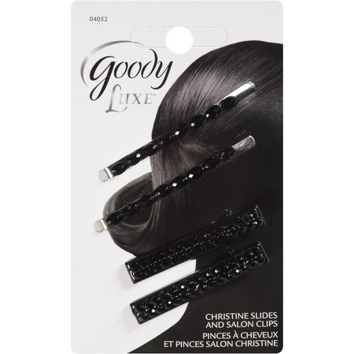 Goody Luxe Christine Slides & Salon Clips, 4 count