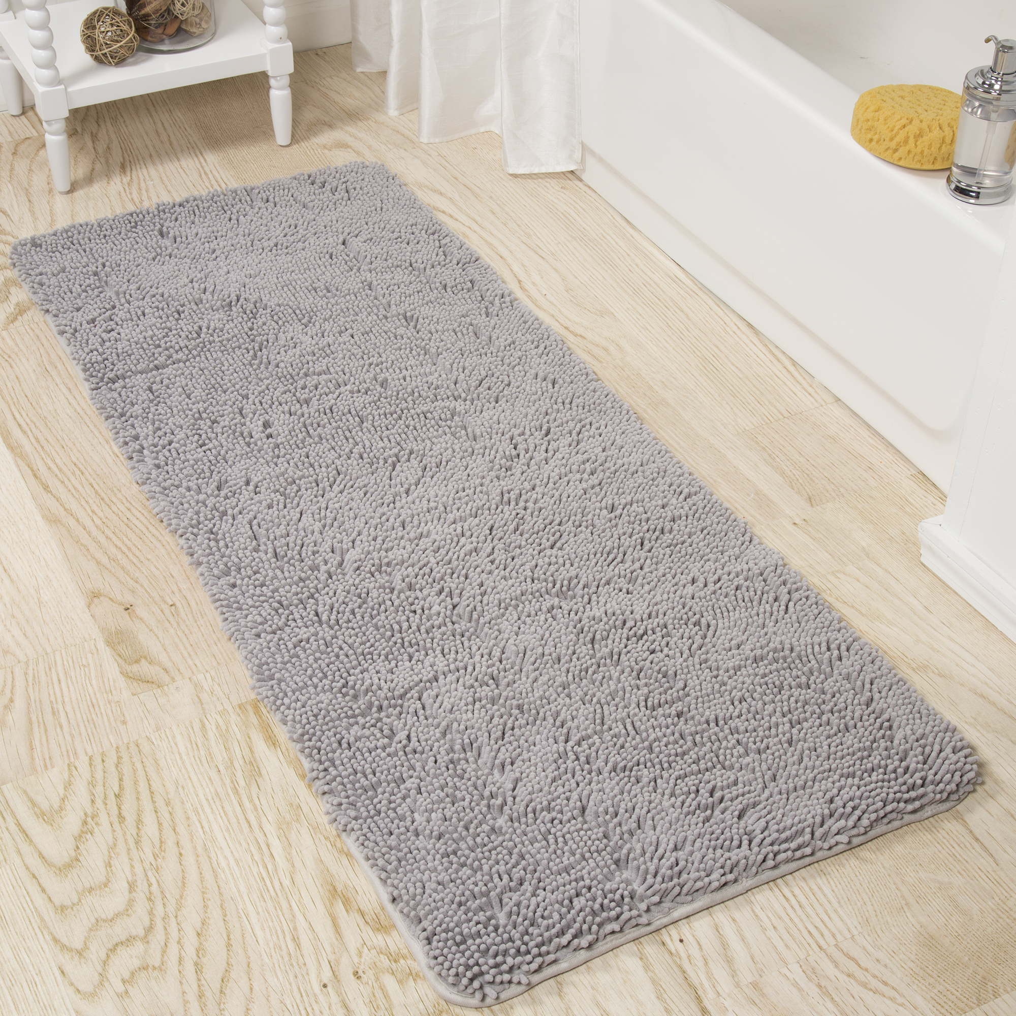 Somerset Home Memory Foam Somerset Homeag Bath Mat 2-feet by 5-feet - Grey