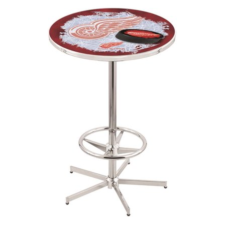 Detroit Red Wings 42 Inch High, 36 Inch Top Chrome L216 Pub Table