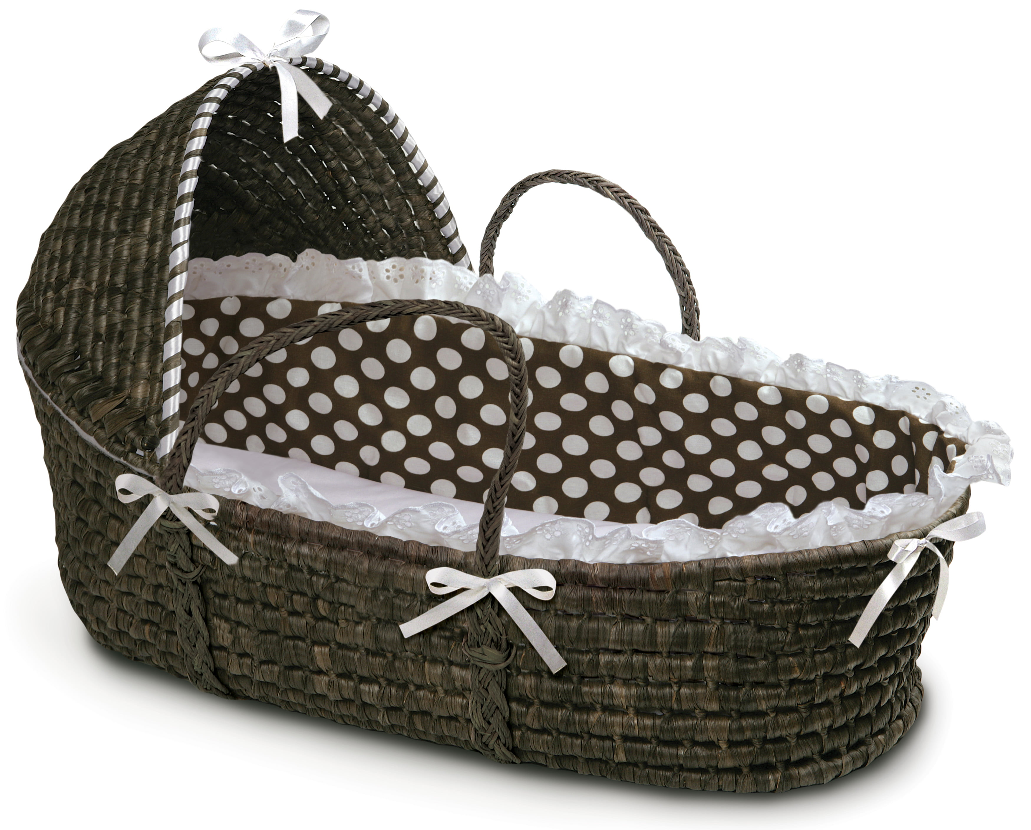 2 x Moses Basket hood bars /& Metal set of fittings Suitable for any basket