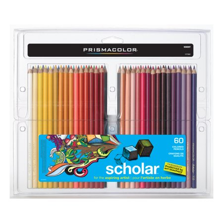 - Prismacolor Scholar Colored Pencil Set, 60-Colors