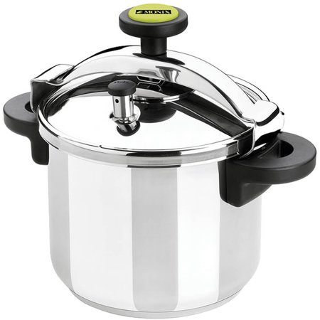 Monix Pressure Cooker With Steamer Basket, Safety Valve, 8.5 Qt., Stainless Steel, 013204