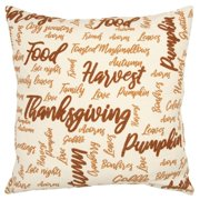 """Rizzy Home Orange Typography 20""""X20"""" Polyester Filled Pillow"""