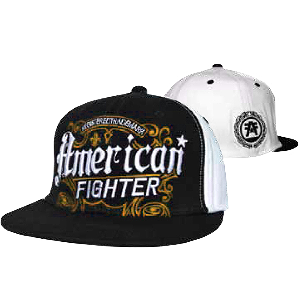 "American Fighter ""Trademark"" Embroidered Hat - Small/Medium - Black"