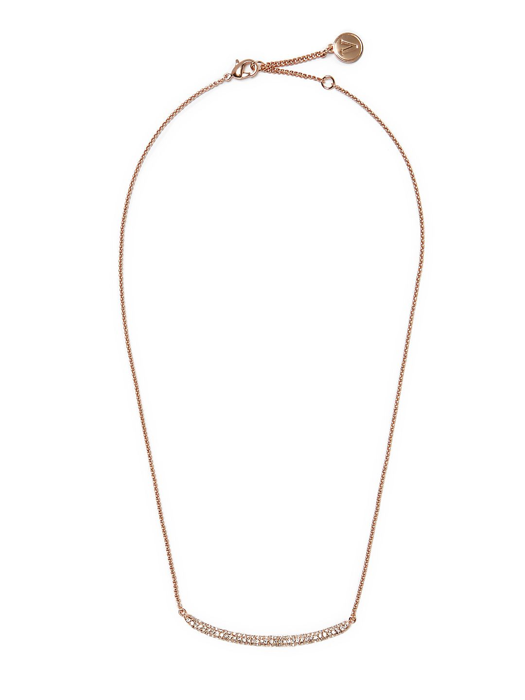 Crystal Arc Single Strand Necklace