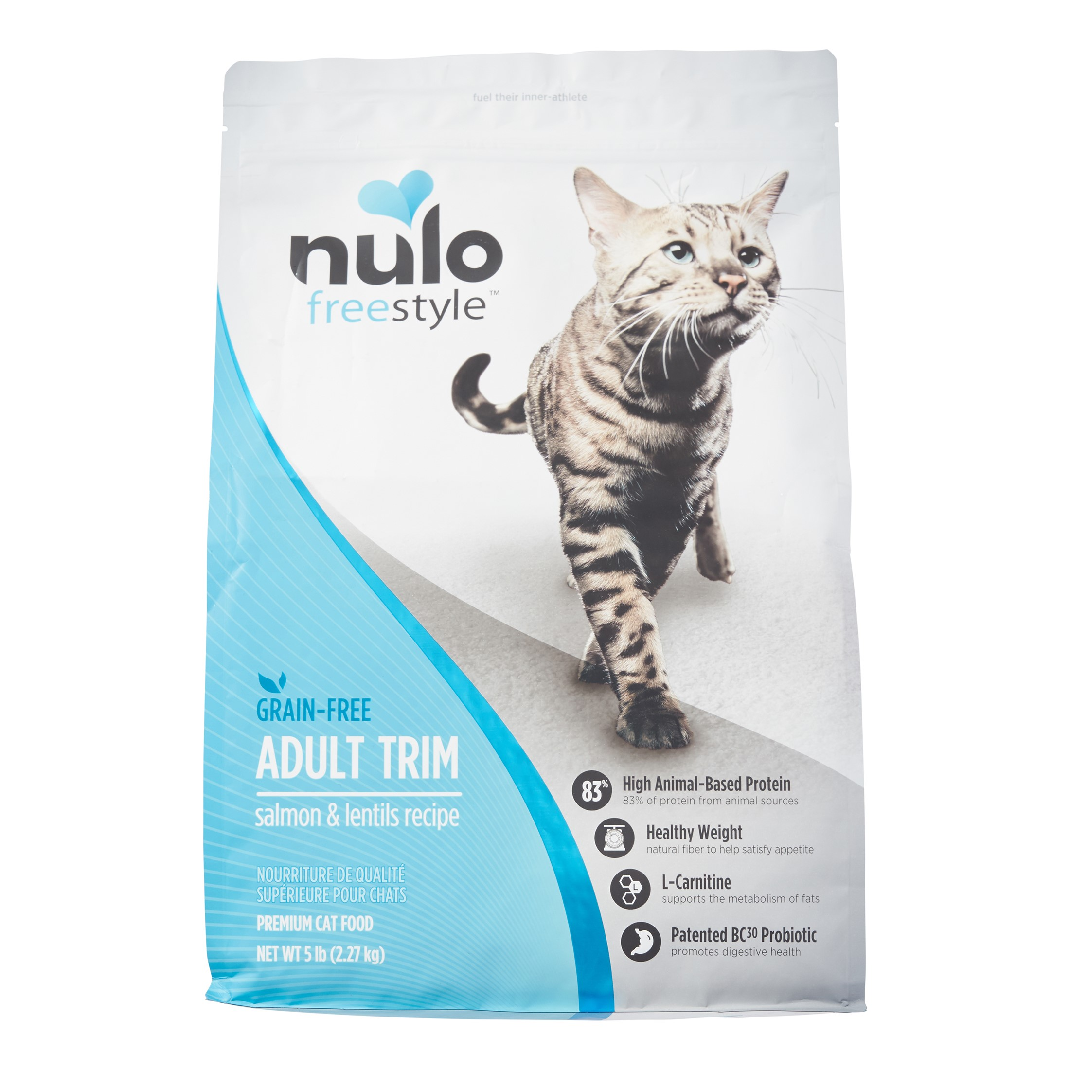 Nulo Freestyle Grain-Free Adult Trim Salmon & Lentils Dry Cat Food, 5 Lb