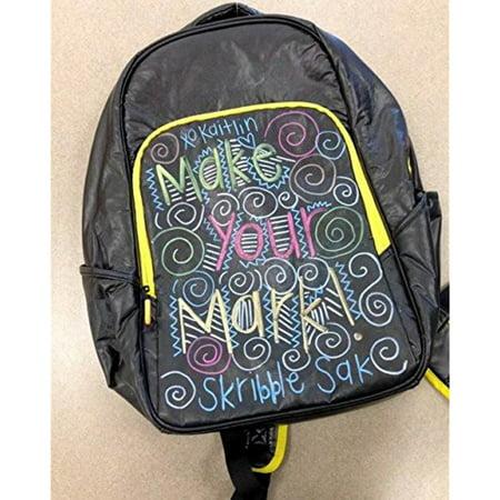 Skribble Sak Dry Erase Backpack With Neon Markers   Make Your Mark