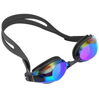 Swimming Goggles, IPOW Anti-Fog Water Swim Goggle Glasses for Adults Men Women Kids Girls Boys Children Youth,No-Leaking Swimming Goggles Mask for Swimming,UV-Protection Swimming Goggle,Black