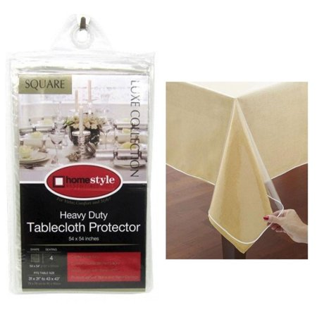 Window Clear Vinyl Tablecloth Protector Heavy Square Plastic Table Cover 54x54