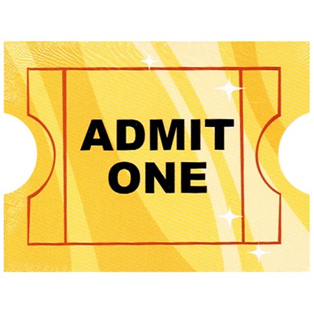 Hollywood Movie Night 'Admit One' Invitations w/ Envelopes (8ct) (Halloween Movie Party Invitation Wording)