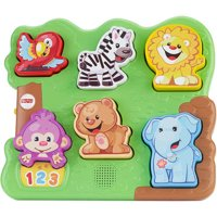 Fisher-Price Laugh & Learn Zoo Animal Puzzle with 7 Different Songs