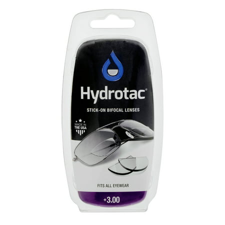 Hydrotac Stick-on Bifocal Lenses, 3.00 (Bifocal Lenses)
