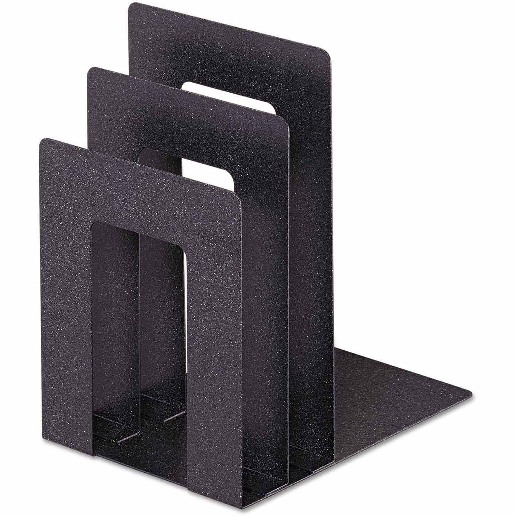 "SteelMaster Soho Bookend with Squared Corners, 5"" x 7"" x 8"", Granite"