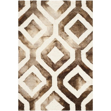 "Safavieh Dip Dye 2'3"" X 6' Hand Tufted Rug in Ivory and Chocolate - image 10 de 10"