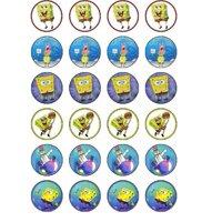 24 Spongebob Cupcake Toppers