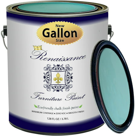 Renaissance Chalk Finish Paint - Seven Seas Gallon (128oz) - Chalk Furniture & Cabinet Paint - Non Toxic, Eco-Friendly, Superior Coverage Non Toxic Furniture