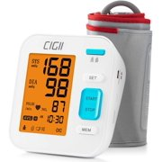 Upper Arm Blood Pressure Monitor Automatic BP Machine & Pulse Rate Indicator Accurate Monitoring Meter 2x120 Memory 3 Color LCD Backlit Display w/ Wide-Range Cuff- Home Office Travel Parents Pregnancy