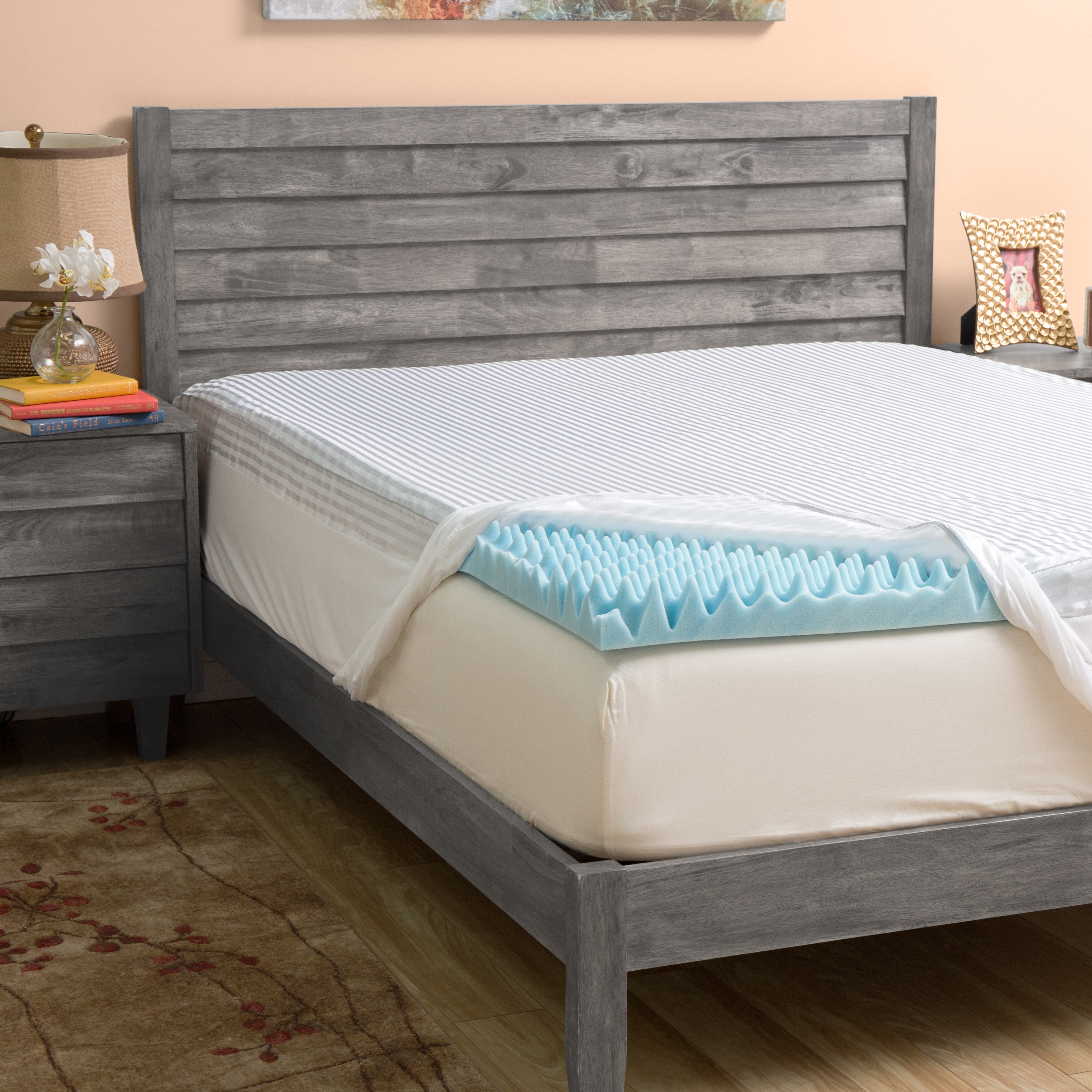 Grande Hotel Collection 4-inch Highloft Supreme Gel Memory Foam Mattress Topper with Polysilk Cover King