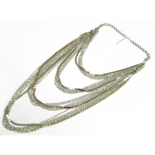 Alur Jewelry, Inc. 14605SV 25 in. Metal Necklace-Earring