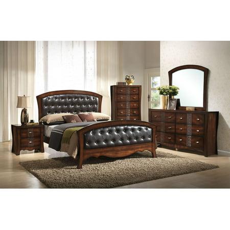 Victorian Bedroom Suite - Cambridge Fairmount 5-Piece Bedroom Suite: King Bed, Dresser, Mirror, Chest, Nightstand