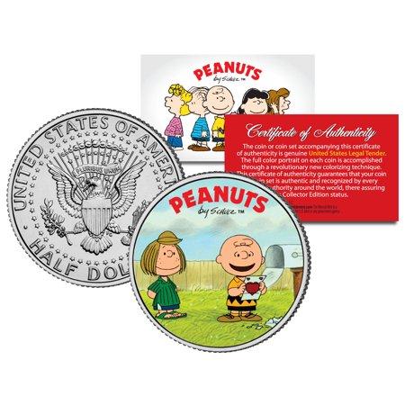Peanuts VALENTINE'S * Charlie Brown & Peppermint Patty * JFK Half Dollar US Coin](Peanuts Valentine)