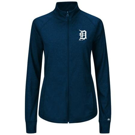Detroit Tigers Womens Majestic Sweetheart Full Zip Fashion Top Shirt