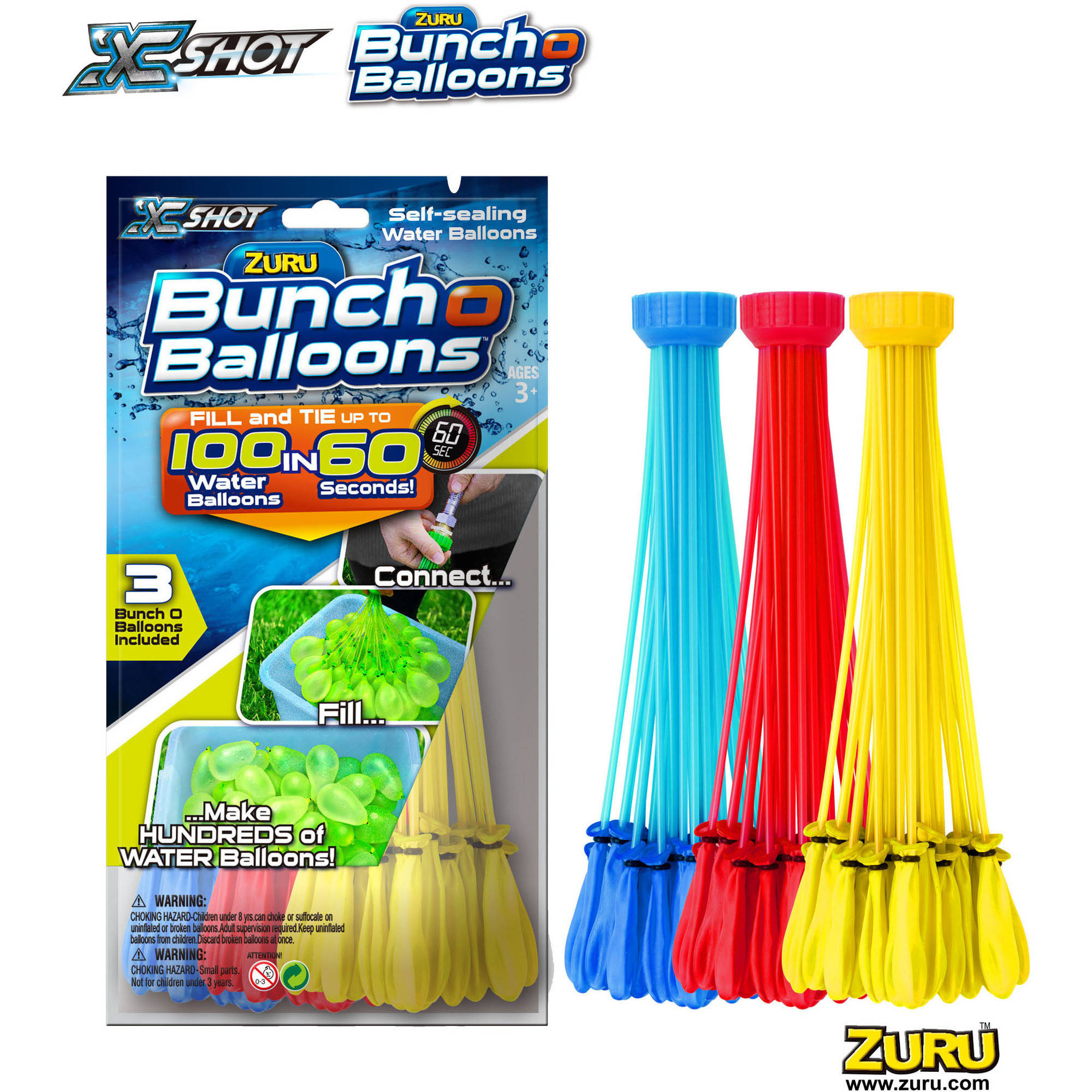 ZURU Bunch O Balloons 3pk Foilbag, Mix