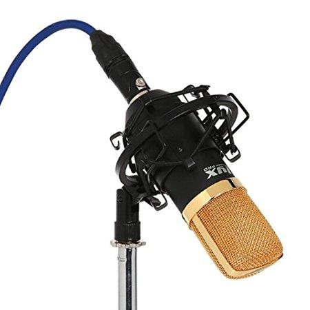 LyxPro LDC-20 Large Diaphragm Cardioid Condenser Studio Microphone, Shockmount, Foam Windscreen & - Large Diaphragm Cardioid Studio Condenser