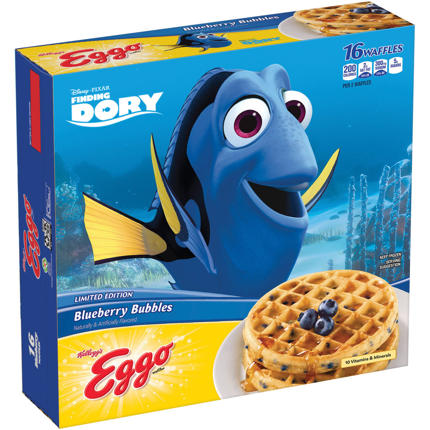 Kellogg's Eggo Limited Edition Blueberry Waffles, 16 count, 19.7 oz