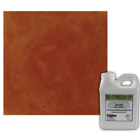 Concrete Resurrection Reactive Acid Concrete Stain Clay Canyon (Brown w/Red and Copper Undertones) ()