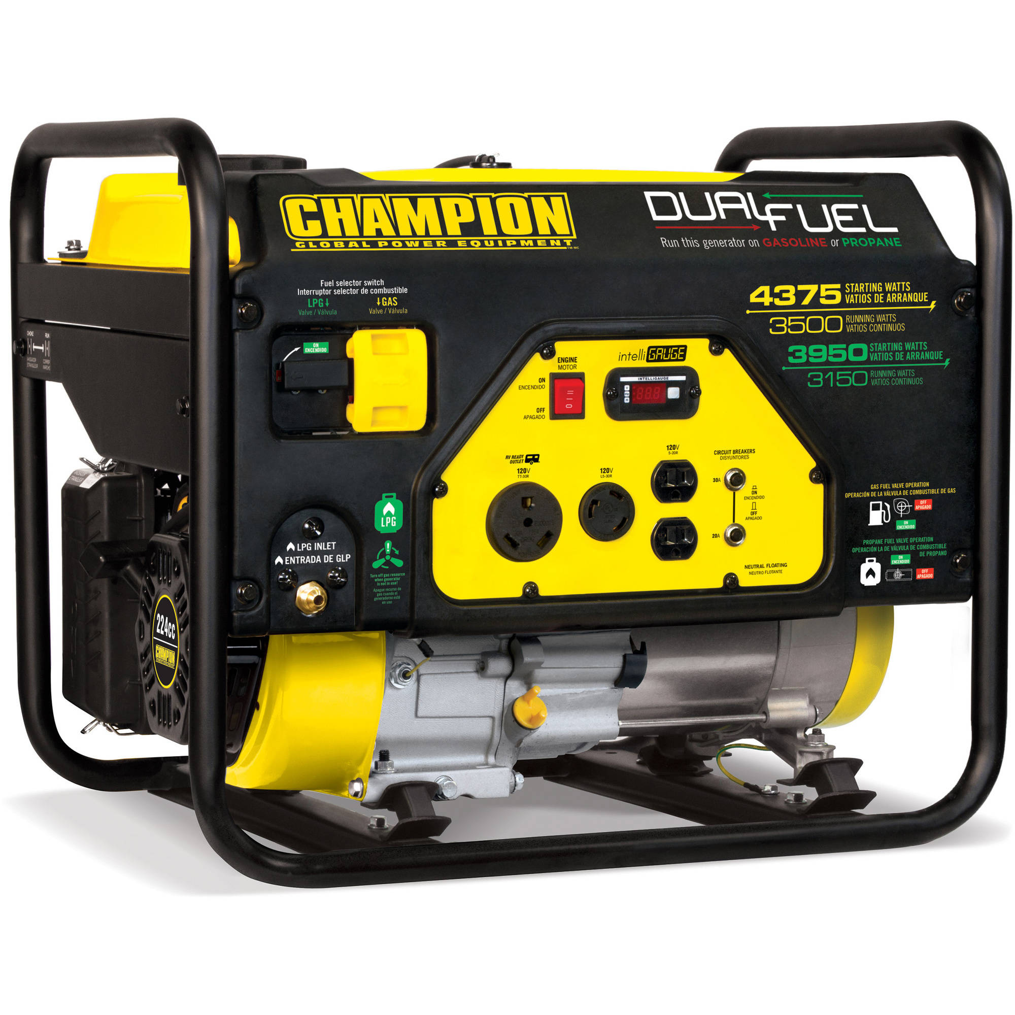 Champion 3500 Watt Dual Fuel RV Ready Portable Generator Walmart