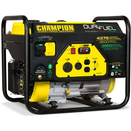 Hand Crank Power Generator - Champion 100307 3500-Watt Dual Fuel RV Ready Portable Generator