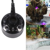 24V Color Changing Humidifier Ultrasonic Mist Maker Water Pond Atomizer Air Humidifiers 12 LED, LED Nebulizer,LED Mist Maker