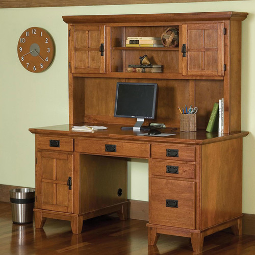 mission style desk pedestal desk with hutch walmart 10292