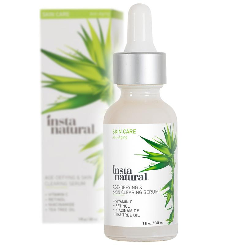 InstaNatural Vitamin C Skin Clearing Serum - Anti Aging Formula, Retinol & Hyaluronic Acid - Natural Organic Wrinkle, Dark Spot, Fine Line & Hyperpigmentation Defying Facial - 1 OZ
