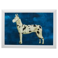 """Spotted Love Dog White 41""""x29"""" Frame by Drew Barrymore Flower Home"""