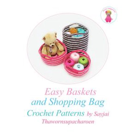 Easy Baskets and Shopping Bag Crochet Patterns - eBook (Halloween Basket Pattern)