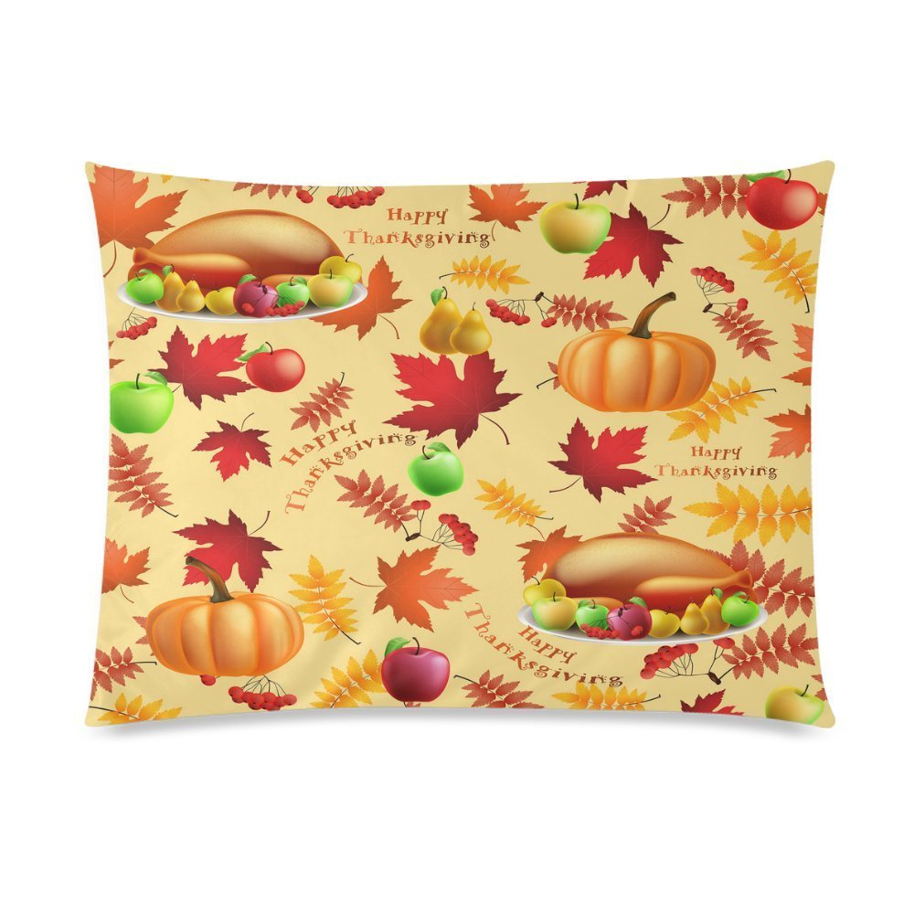 ZKGK Happy Thanksgiving Day Turkey Pumpkin Home Decor Pillowcase 20 x 30 Inches,Autumn... by ZKGK