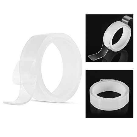 1m/3.3ft Washable Traceless Double-sided Adhesive Tape Removable Reusable Anti-slip Transparent Nano Gel Tape Pad 2mm Thickness Strong Adhesive Sticky Strips Grip for Fixing Carpet Mats Photos (Best Carpet Pad Thickness)