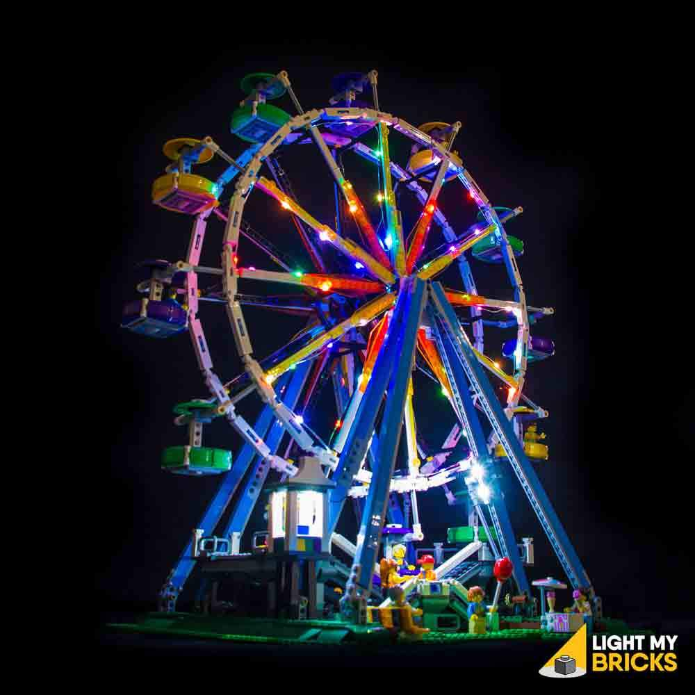 Pack of 2 lighting kit for Lego 10247 Ferris Wheel with remote control led