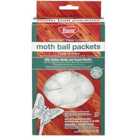 Enoz Cedar Scented Moth-Tek Paper Covered Moth Ball Packets 6 oz (Pack of 3)