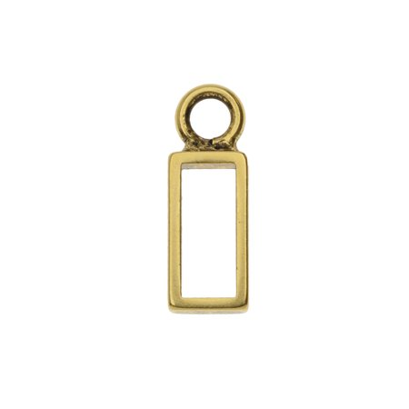 Nunn Design Itsy Open Frame Charm, Rectangle 6x18mm, 1 Piece, Antiqued