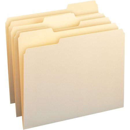 Smead Manila File Folder, 1/3 Tab, Letter Size, 100 per box (10330) (Letter File Folders)