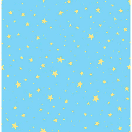 Brewster Stars Turquoise Outer Space Wallpaper