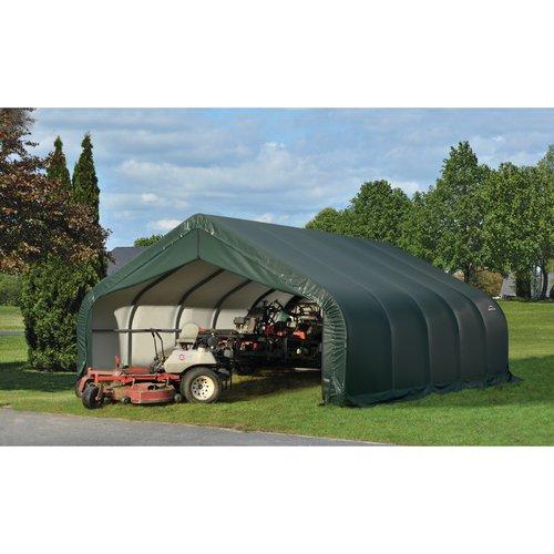 ShelterLogic 18' x 28' x 9' Peak Style Shelter, Green