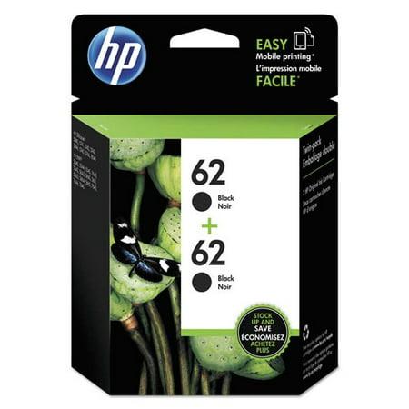 HP 62 Black Original Ink, 2 Cartridges (T0A52AN)