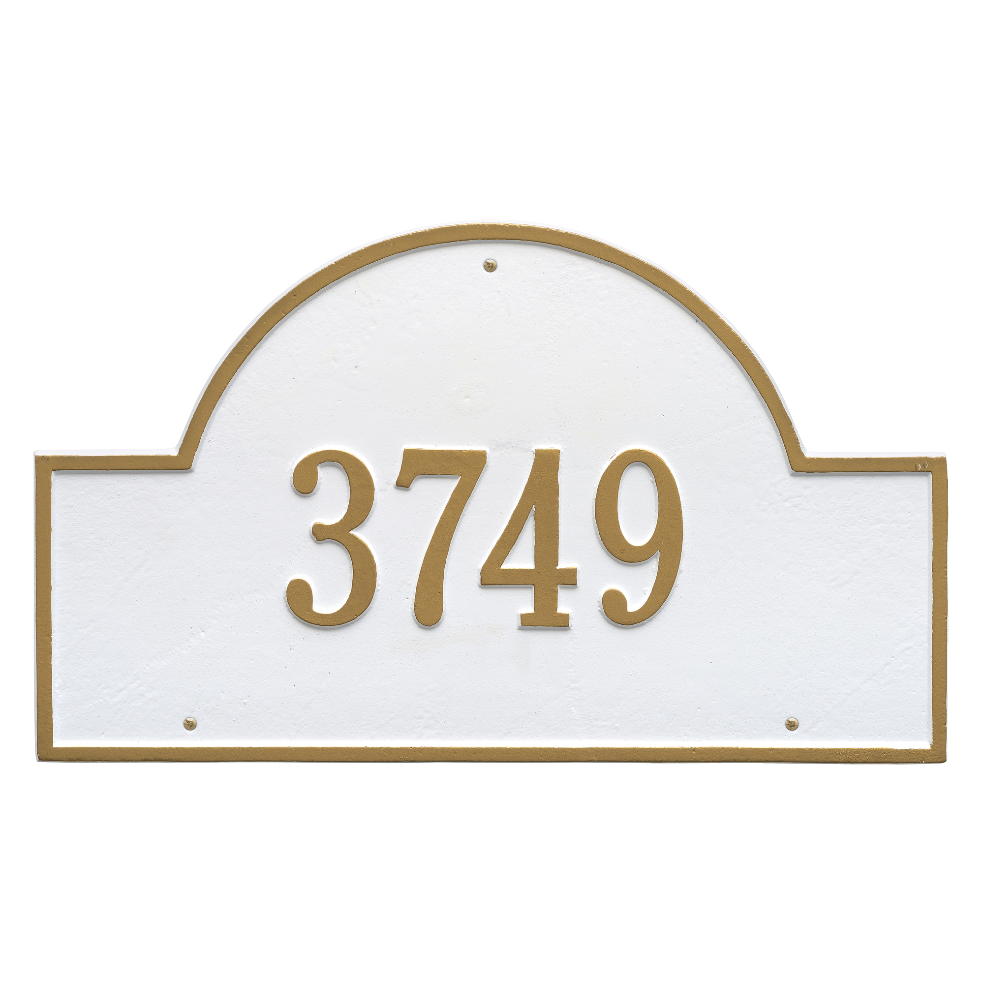 Personalized Whitehall Products Estate One Line Arch Marker Wall Address Plaque in White... by Whitehall