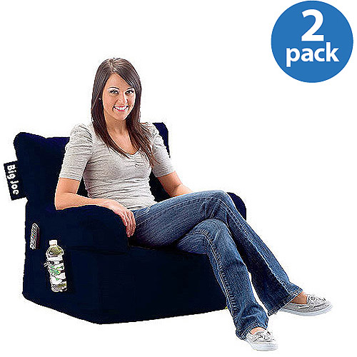 2-Pack Big Joe Bean Bag Chair Bundle (Mix and Match Colors)